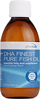 Pharmax - DHA Finest Pure Fish Oil - Supports Cognitive Health and Brain Function* - Natural Orange Flavor - 5.1 fl oz (150 ml)