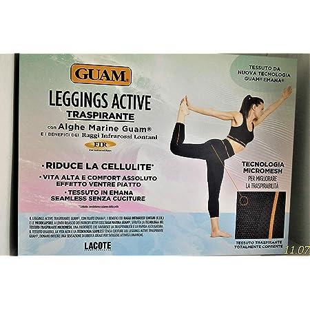 Guam Leggings Active Traspirante con Alghe Taglia L-XL 48-50 Coprente Senza Cuciture Effetto Ventre Piatto