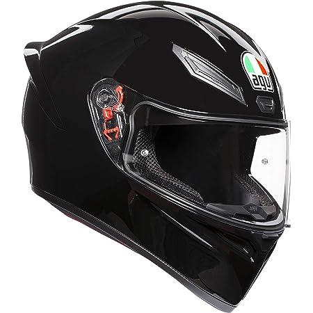 AGV E2205 K1 Solid Casco Moto Integral, Hombre, Negro, S