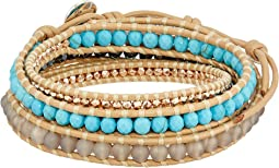 Semi-Precious 5 Wrap Bracelet