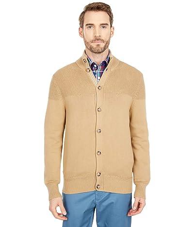 Nautica Classic Fit Knit Cardigan (Coastal Brown) Men