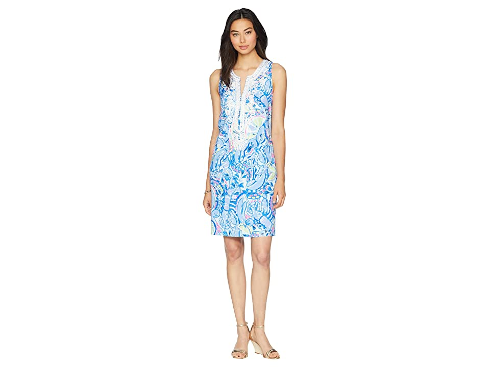 Lilly Pulitzer Carlotta Stretch Shift Dress (Blue Peri Pinch Pinch) Women
