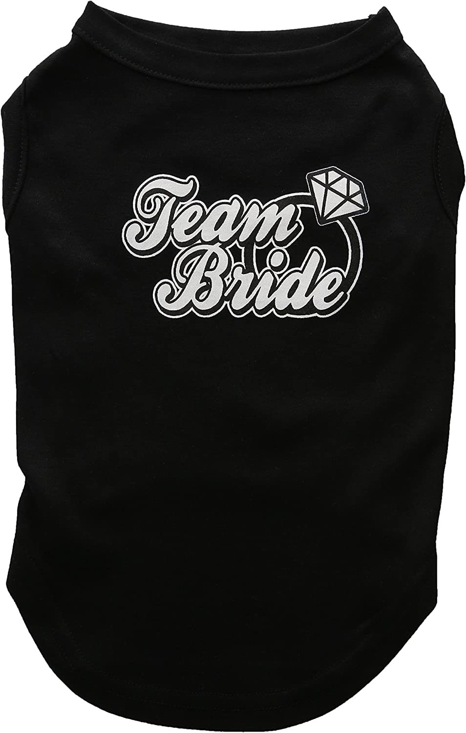 Mirage Pet Products 14Inch Team Bride Screen Print Shirt for Pets, Large, Black