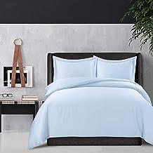 مجموعة غطاء لحاف Tribeca Living 300 خيط من الحرير الصناعي من الخيزران حجم كبير أزرق ملكي (BAM300DUVKIBL)