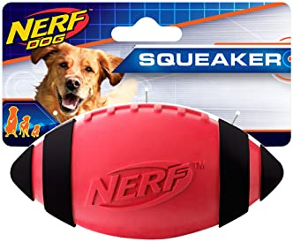 Nerf Dog Squeak Rubber Football Dog Toy