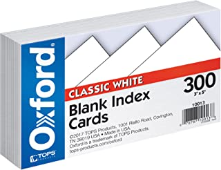 "Oxford Blank Index Cards, 3"" x 5"", White, 300 pack (10013)"