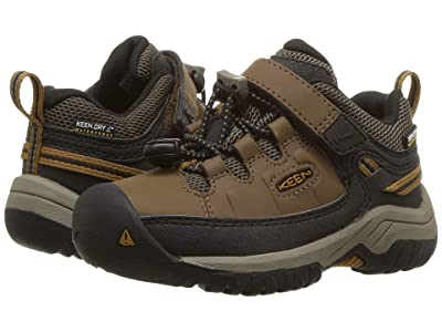 KEEN Kids Targhee Low WP (Toddler/Little Kid) (Dark Earth/Golden Brown) Boy