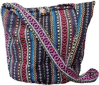 Thai Cotton Sling Bag Purse Crossbody Messenger Hippie Hobo Hand Woven Ikat