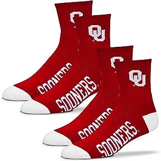 For Bare Feet Men's NCAA (2-Pack)- Quarter Socks