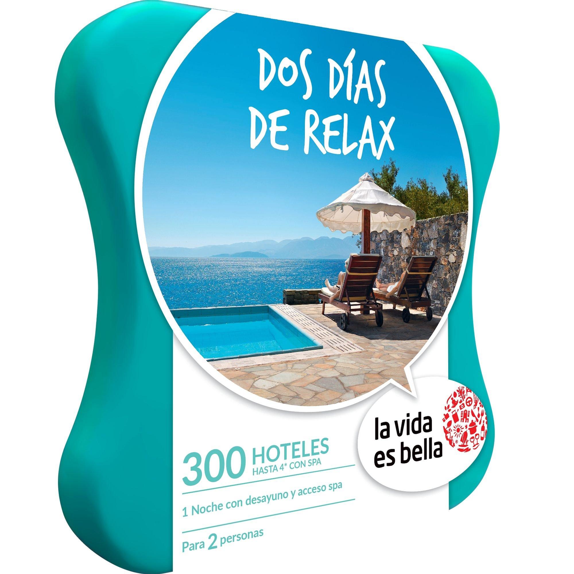 LA VIDA ES BELLA - Caja Regalo - DOS DÍAS DE RELAX - 300 hoteles de hasta 4* con bañera de hidromasaje o acceso a spa en España, Francia y Portugal: Amazon.es: