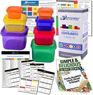 portion control containers for weight loss by Efficient Nutrition