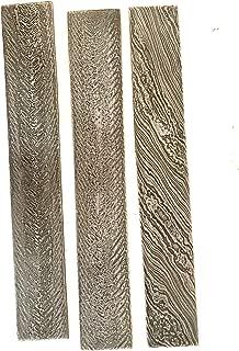 KRISHNA HANDICRAFTS Mukesh Custom Made Damascus 1095 15n 20 high Carbon Steel bar Ladder Pattern