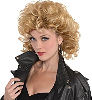 Amscan 845529 Sandy Olsson Greaser Wig, Green, One Size