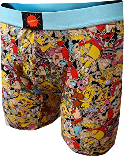 Nickelodeon Cartoon Collage of TV Characters Boxer Brief