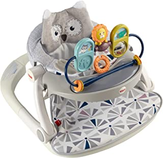 Fisher-Price Premium Sit Me Up Floor Seat with Toy Tray Owl