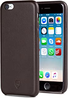 Vaultskin SOHO Leather Wallet Case for iPhone 6 & 6S - Ultra Slim Bumper No Pockets Brown PHSOHIP6BR