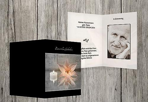 Mercancía de alta calidad y servicio conveniente y honesto. Sterbe imágenes imágenes imágenes Vela y flores, negro, 30 Karten  tienda en linea