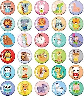MORCART Animal Fridge Magnets for Refrigerator Locker Cute Funny Magnets Kitchen School Cabinets Classroom Whiteboard Offi...