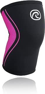Rehband Rx Knee Sleeve 5mm - Black/Pink - Medium - 1 Sleeve