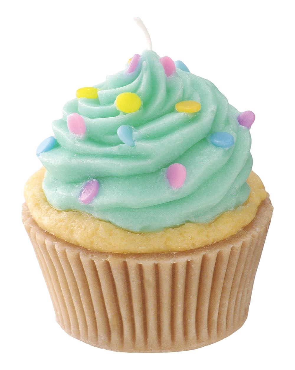 脳大きなスケールで見るとシャープカメヤマキャンドルハウス 本物そっくり! アメリカンカップケーキキャンドル ミントクリーム バニラの香り