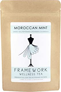 Sponsored Ad - Organic Moroccan Mint | Refreshing blend of tightly rolled Formosan Gunpowder Tea & Peppermint | Premium Fu...