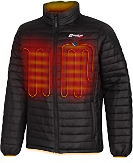 Venture Heat Men's Heated Jacket with Battery Pack - Insulated Electric Coat, Windproof, Traverse 2.0