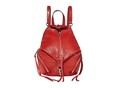 Rebecca Minkoff Convertible Mini Julian Backpack (Tomato 1) Backpack Bags