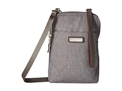 Baggallini New Classic Take Two RFID Bryant Crossbody (Stone) Handbags