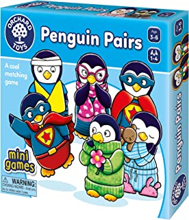 Orchard Toys Penguin Pairs Matching Game, Develops Observational and Matching Skills