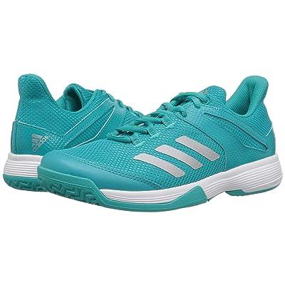 adidas Kids Adizero Club Tennis (Little Kid/Big Kid) (Hi-Res Aqua/Silver/White) Girl