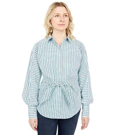 LAUREN Ralph Lauren Striped Tie-Front Broadcloth Shirt