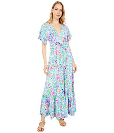 Lilly Pulitzer Jessi Midi Dress (Amalfi Blue Alligator Isle) Women