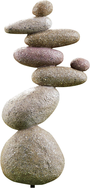 Balancing Stones Resin Outdoor Stake Sculpture