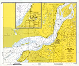 Map - Cook Inlet, Fire Island To Goose Creek, 1973 Nautical NOAA Chart - Alaska (AK) - Vintage Wall Art - 55in x 44in