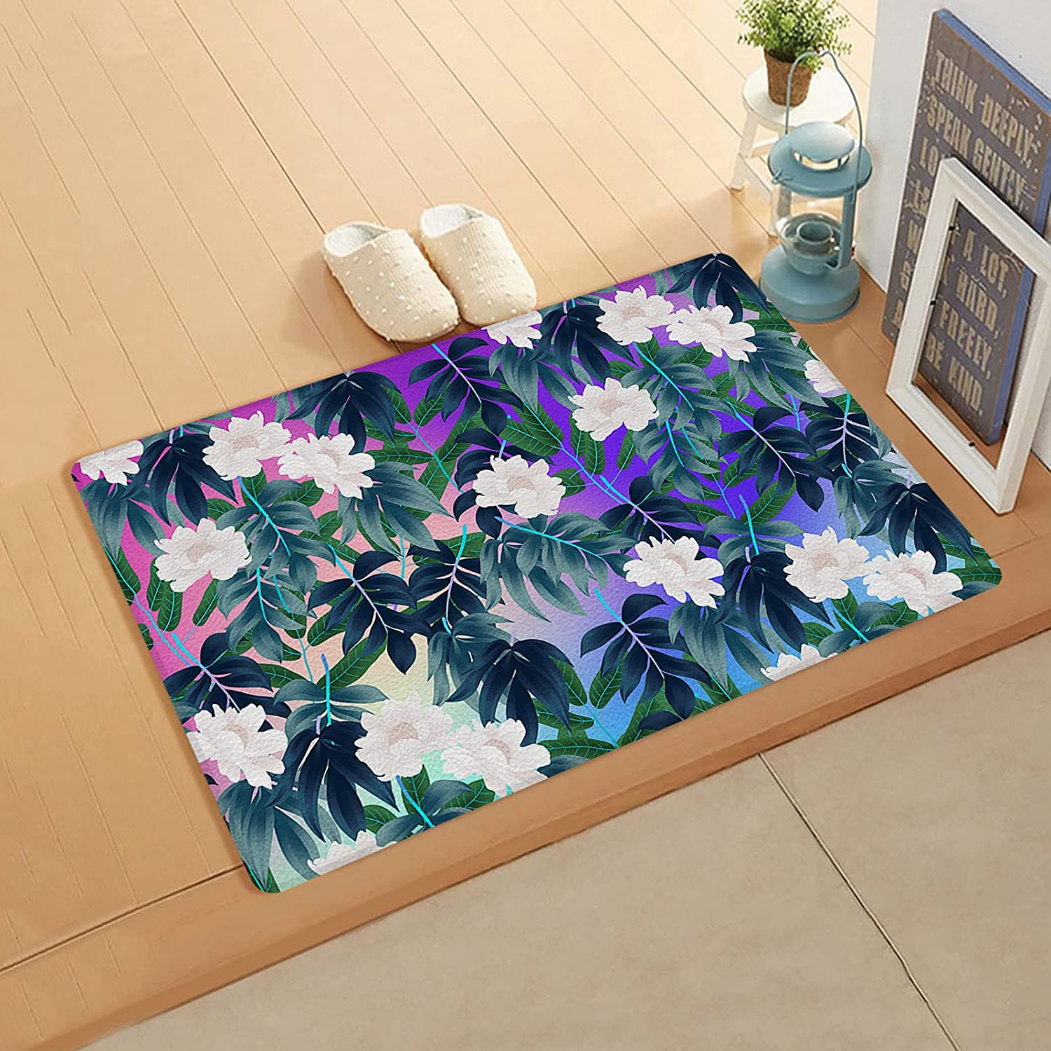 Cushioned Anti Fatigue Kitchen Mat Regular discount Leaves Forest Garden Flower Super beauty product restock quality top