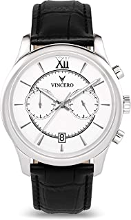 Vincero Luxury Mens Bellwether Watch — 43mm Chronograph Watch —Japanese Quartz Movement