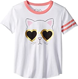 Vintage Jersey Cat Sunnies Tee (Little Kids/Big Kids)