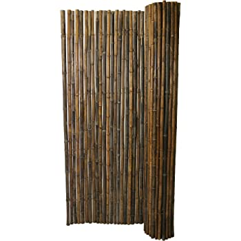 Amazon.com : Backyard X-Scapes Black Rolled Bamboo Fence ...