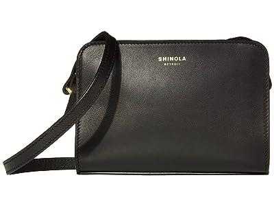 Shinola Detroit Mini Crossbody Nappa (Black) Handbags