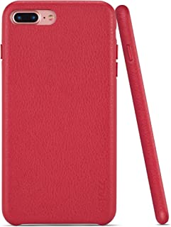 iPhone 7 Plus Case iPhone 8 Plus Case Rejazz Anti-Scratch iPhone 7 Plus Cover iPhone 8 Plus Cover Genuine Leather Apple iPhone Cases for iPhone 7/8 Plus (5.5 Inch) (Brown)(Red)