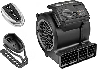 Vacmaster Cardio 54 Gym Vloerventilator met afstandsbediening Fiets Ventilator Stil, 3 snelheden Tapijtdroger Ventilator, ...