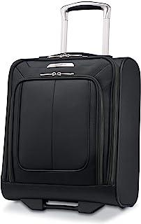 Samsonite Solyte DLX Softside Luggage, Midnight Black, Underseater