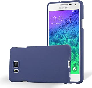 Cadorabo Case Works with Samsung Galaxy Alpha in Frost Dark Blue – Shockproof and Scratch Resistant TPU Silicone Cover – Ultra Slim Protective Gel Shell Bumper Back Skin