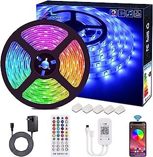 Bluetooth LED Strip Lights, ALED LIGHT 5050 16.4 ft/5 Meter 150 LED Stripes Lights Smart-Phone Controlled Waterproof RGB LED Band Light for Home&Outdoor Decoration