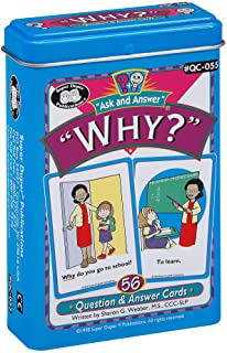 "Ask and Answer ""Why?"" Questions Flash Card Deck -Super Duper Publications Educational Learning Resource for Children"