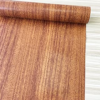 Yifely Brown Wood Textured Vinyl Drawer Paper Self-Adhesive Shelf Liner Countertop Sliding Door Sticker 17.7 Inch by 9.8 Feet