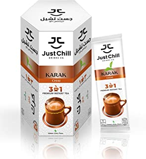 Just Chill Drinks Co. | Tea Premix | Karak - Multi Sachet Pack | 26gm X 10
