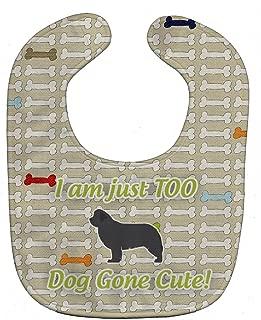 Caroline's Treasures Dog Gone Cute Baby Bib, Newfoundland, Large
