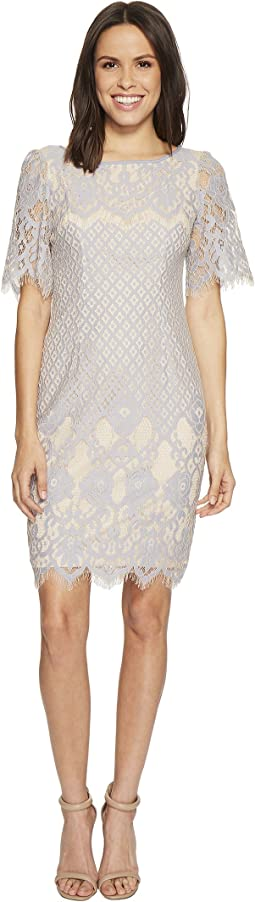 Adrianna Papell - Bell Sleeve Georgia Lace Sheath