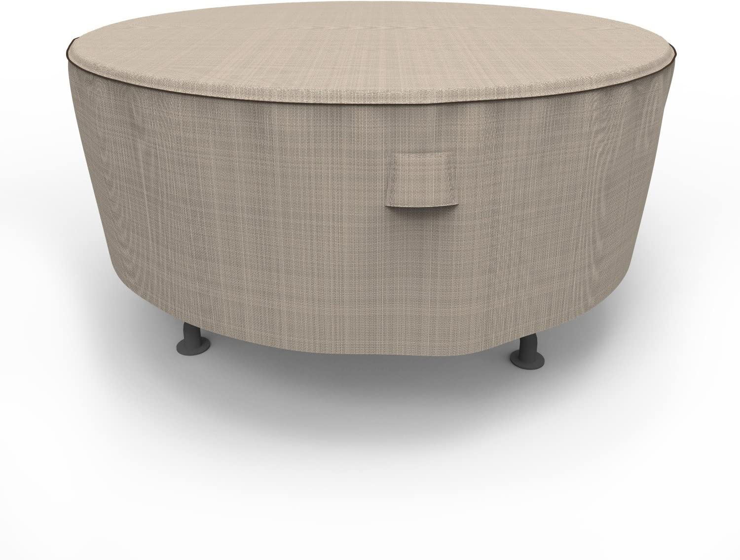 Budge P5A23PM1 English Garden Round Patio Table Cover Heavy Duty and Waterproof, Large, Two-Tone Tan : Patio, Lawn & Garden